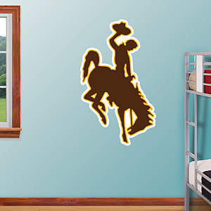 Wyoming Cowboys Logo Fathead Wall Decal